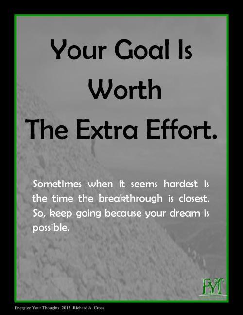 Goals + Effort = Results