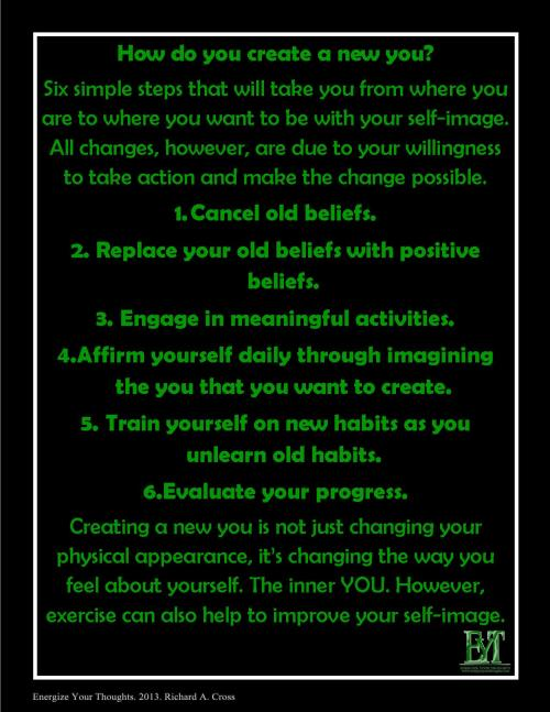 6 Steps To CREATE A New You