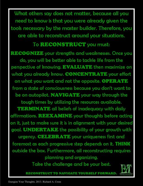 Reconstruct Around The Situations