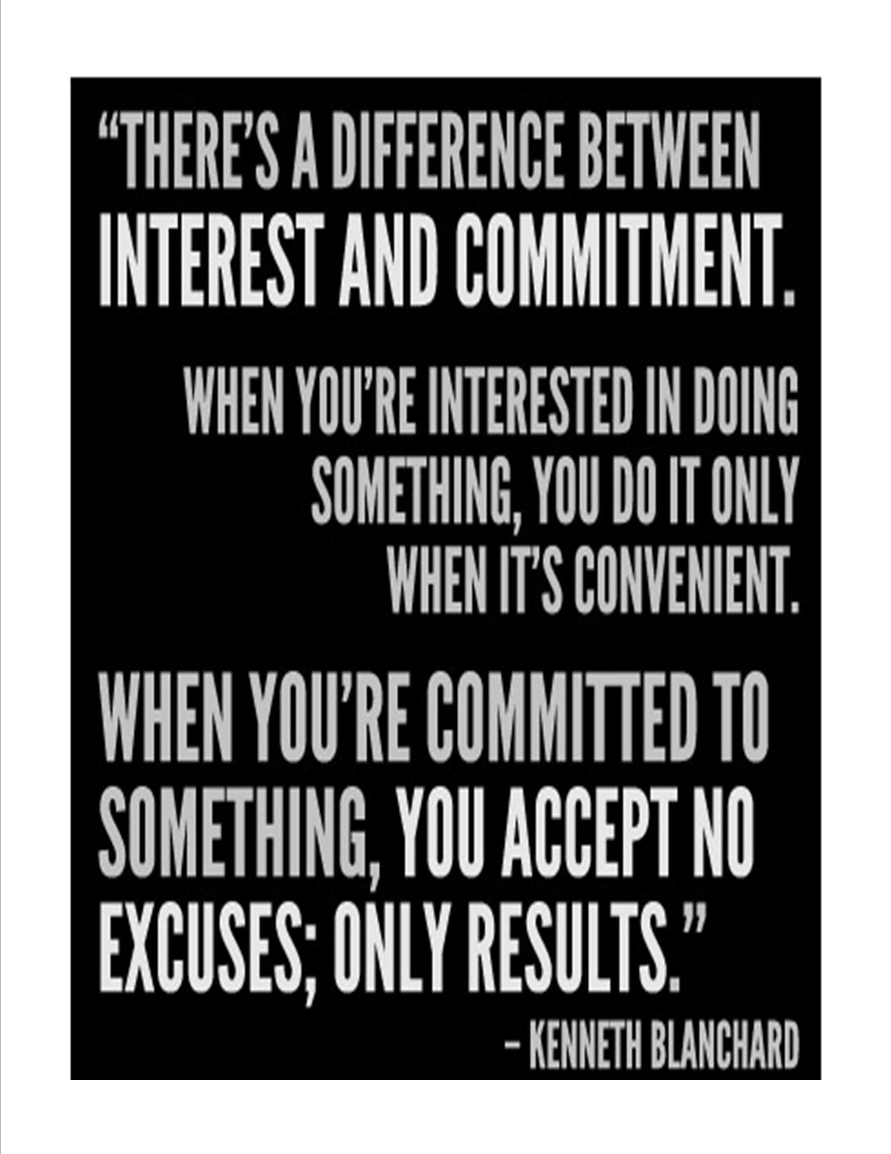 Be Committed From Within