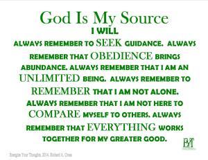 GodIsMySource
