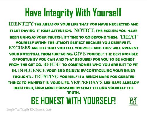 Have Integrity With Yourself