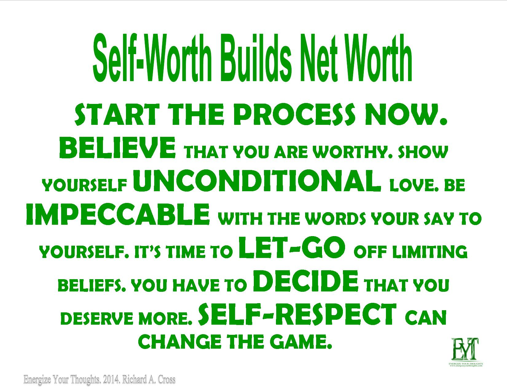 Self-Worth Builds Net Worth