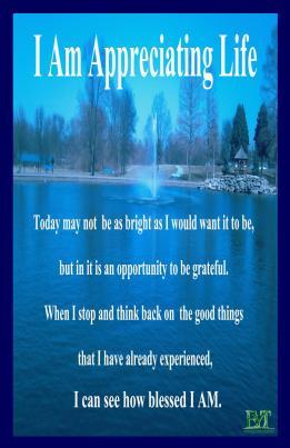 I am Appreciating Life