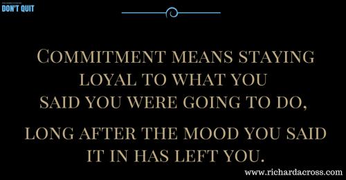 Commitment (2)